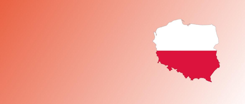 flaga Polski natle